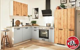 Einbauküche 700 PN100 in 664 Honig Eiche-Optik, Siemens Geschirrspüler SN614X00AE
