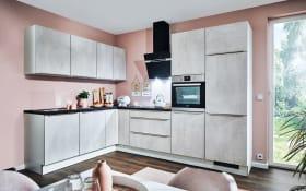 Einbauküche PN100 Beton weißgrau Optik, Siemens Geschirrspüler SN614X00AE