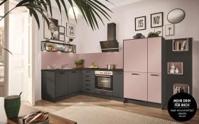Einbauküche PN80 in graphit, Zanker Geschirrspüler KDT10003FB