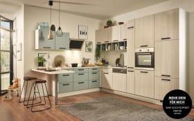 Einbauküche PN100 in Sonoma Eiche Optik, Zanker Backofen KOB10401XB
