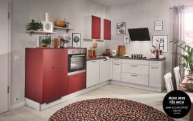 Einbauküche PN80 in lichtgrau, Zanker Geschirrspüler KDT10003FB