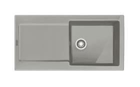 Keramik-Einbauspüle MRK 611-100 in perlgrau matt