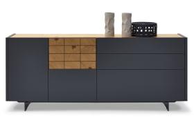 Sideboard Escudo in schwarz/Wildeiche