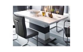 Stuhlgruppe Paulo 2/Trento in grau/weiß