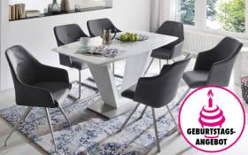 Stuhlgruppe Madita/Ilko in anthrazit/graublau/weiß