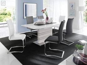 Stuhlgruppe Arco 1/Modus in schwarz/weiß/grau/Hochglanz weiß