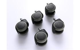 Chefsessel Hartbodenrollen in schwarz, 5er-Set