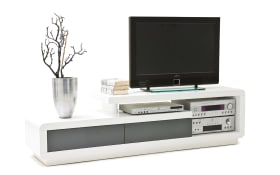 TV-Lowboard Celia in weiß/grau