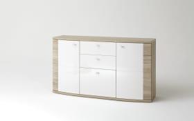 Sideboard Malaga in weiß/San Remo Eiche-Optik