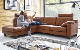 Wohnlandschaft Sofa Concept in tabac, L-Form inklusive Funktionen