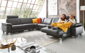 Wohnlandschaft Sofa Concept in schwarz, U-Form