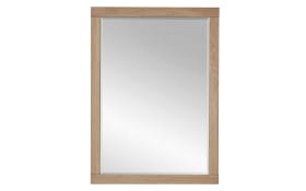 Spiegel Achat in Wildeiche bianco massiv, 65 x 90 cm
