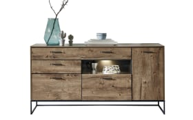 Sideboard Manhattan in Haveleiche cognac-Optik