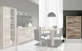 Highboard Calpe in Eiche-Optik antik