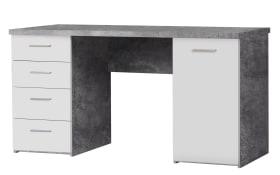 Schreibtisch in Betonfarbig