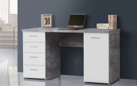 Schreibtisch in lichtgrau