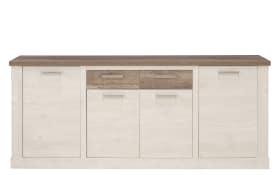 Sideboard Duro in Pinie-Optik weiß