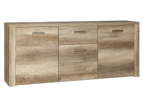 Sideboard Portland in Eiche-Optik antik