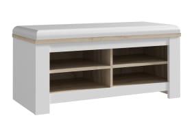 Sitzbank Elara in weiß/Eiche-Bianco-Optik