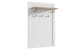 Garderobenpaneel Elara in weiß/Eiche-Bianco-Optik