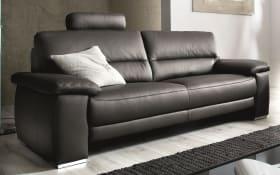 Sofa 3-Sitzer TS 107 in schwarz