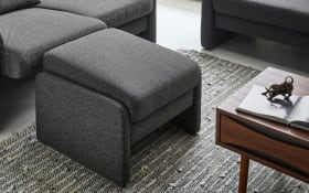 Hocker Carina in Twice dark grey