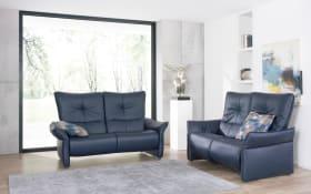 Leder-Wohnlandschaft 4515 Cumuy in Rustica blau, mit WallFree Relaxfunktion