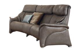 3-Sitzer Rund-Sofa 4216 Comfortmaster in magma mit Comfortfunktion
