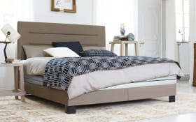 Boxspringbett in taupe