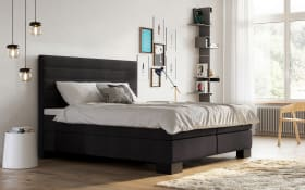 Boxspringbett Linea in anthrazit, mit Bultex-Topper