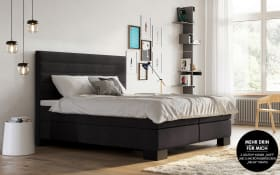 Boxspringbett Linea in anthrazit, mit Geltex-Topper