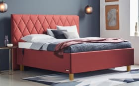 Polsterbett Brillant in rot, Liegefläche ca. 160 x 200 cm, 1 x in Härtegrad 3 und 1 x in Härtegrad 4
