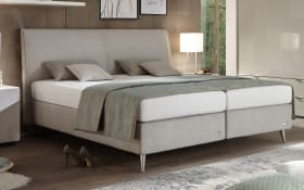 Boxspringbett Amado in grau
