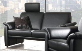 Sofa 2-sitzig hoch in schwarz