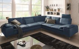 Wohnlandschaft 16540 Valentinoo in blue, inklusive Sitztiefenverstellung