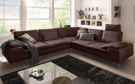Wohnlandschaft 16540 Valentinoo in brown, inklusive Sitztiefenverstellung