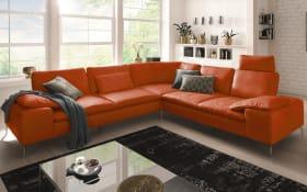 Wohnlandschaft 16540 Valentinoo in copper, inklusive Sitztiefenverstellung
