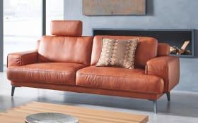 Sofa groß Foscaari in cognac