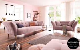 Garnitur Big Apple in rosa, 2,5-Sitzer und 2-Sitzer