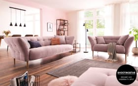 Garnitur Bora in rosa, 2,5-Sitzer und 2-Sitzer