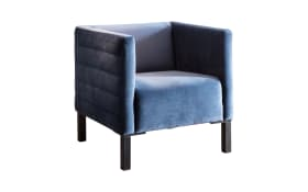 Sessel Solo in Velvet blue grey