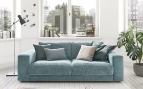 Sofa San Francisco in petrol, mit 84 cm Sitztiefe