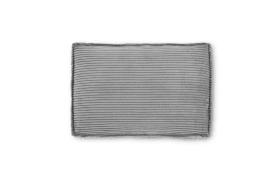 Blok Kissen in grey velveteen, 50 x 70 cm