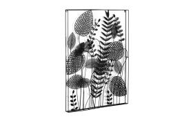 Metallbild Denecia in schwarz, 61 x 81 cm