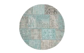 Teppich Color rund in blau, 150 x 150 cm