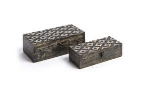 Box Arym in schwarz 2er-Set