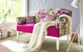 Sofa Jever in Blumenmuster/pink