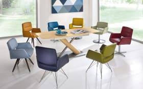 Stuhlgruppe in wildeiche/verschiedene Farben