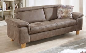 Sofa 2,5-sitzig Modell Lava in braun