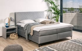 Boxspringbett Petro in grau
